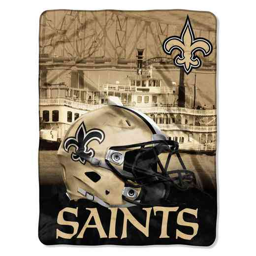 1NFL071030021RET: NW NFL HERITAGE SILK THROW, SAINTS